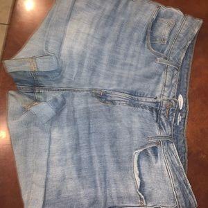 Old Navy Hi-Rise Stretch Jean Shorts 12